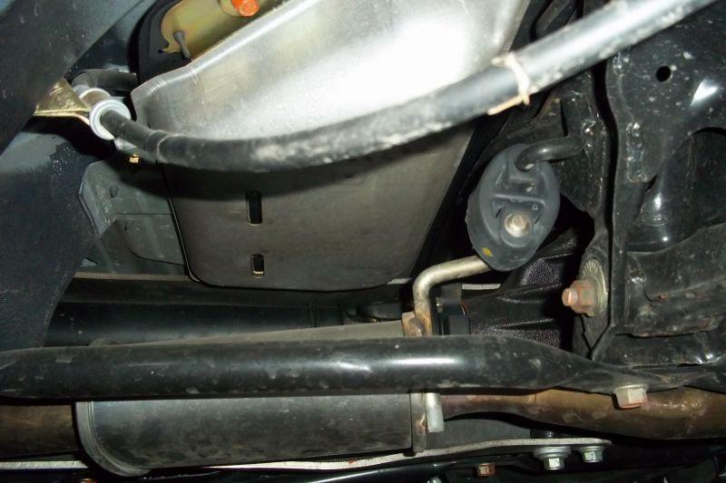 under side of car